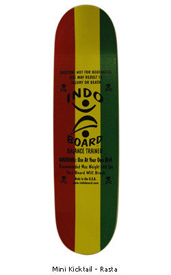 Trench Sports - Indo Board Deck Only - Mini Kicktail Rasta