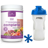 Food for Health Complete Whole Food Multivitamin Shake 1 lb 13.6 oz and Jaxx Shaker Blue 28 oz - Biosource Nutrition