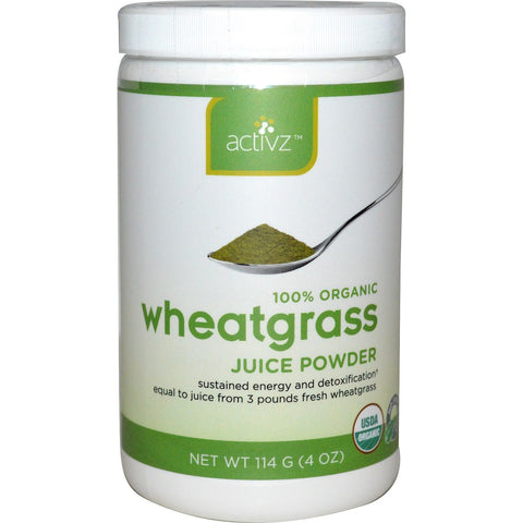 Activz Wheatgrass Juice Powder 4 oz (114 G) - Biosource Nutrition