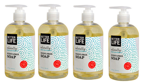 Better Life Scent-Free Soap 12 oz. (4 Pack) - Biosource Nutrition