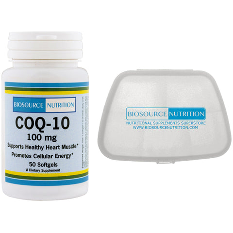 Biosource Nutrition COQ-10 100 mg 50 Softgels and Pocket Pill Pack - Biosource Nutrition