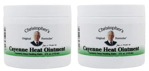 Christoper's Orginal Formulas Cayenne Heat Ointment 4 oz. (2 Pack) - Biosource Nutrition
