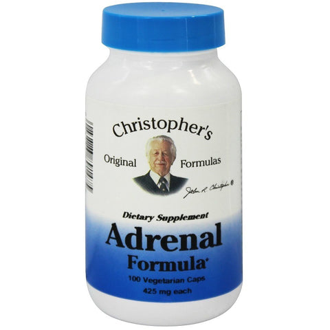 Christopher's Original Formulas Adrenal Formula 100 Vegetarian Capsules - Biosource Nutrition