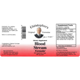 Christopher's Original Formulas Blood Stream Formula 100 Vegetarian Capsules - Biosource Nutrition