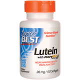Doctor's Best Best Free Lutein Featuring FloraGlo 20 mg 60 Softgels - Biosource Nutrition