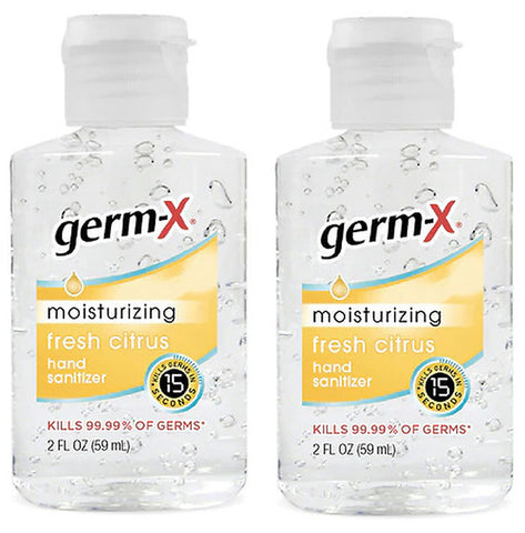 Germ-X Moisturizing Hand Sanitizer Fresh Citrus 2 fl oz. (2 Pack)