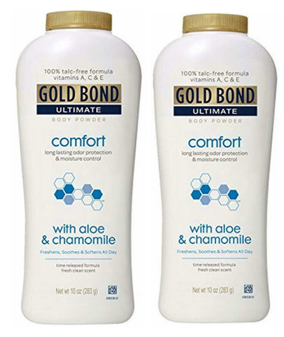 Gold Bond Ultimate Comfort Body Powder Fresh Clean 10 oz. (2 Pack) - Biosource Nutrition
