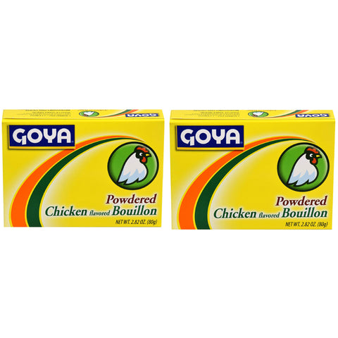 Goya Powdered Chicken Bouillon 2.82 oz (2 Pack) - Biosource Nutrition