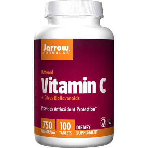 Jarrow Formulas Vitamin C (Buffered) + Citrus Bioflavonoids 750 mg 100 Tablets - Biosource Nutrition