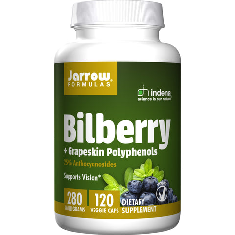 Jarrow Formulas Bilberry + Grapeskin Polyphenols 120 Veggie Caps - Biosource Nutrition