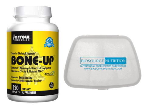 Jarrow Formulas Bone Up 120 Capsules and Biosource Nutrition Pocket Pill Pack - Biosource Nutrition