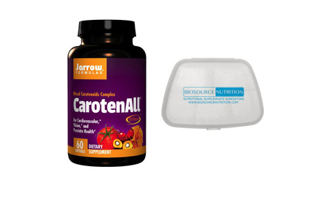 Jarrow Formulas CarotenALL® 60 Softgels and Biosource Nutrition Pocket Pill Pack - Biosource Nutrition