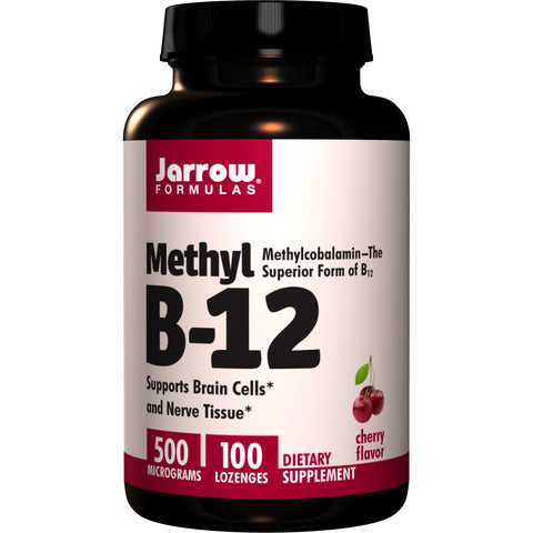 Jarrow Formulas Methylcobalamin (Methyl B-12) 500 mcg 100 Lozenges - Biosource Nutrition