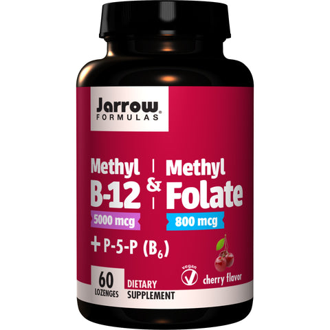 Jarrow Formulas Methyl B-12 & Methyl Folate + P5P (B6) 60 Lozenges - Biosource Nutrition