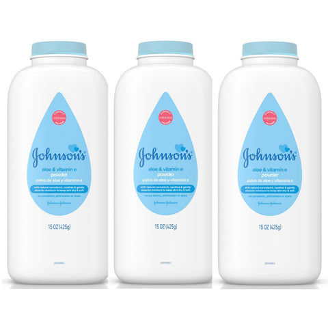 Johnson's Pure Cornstarch Baby Powder 1.5 oz Travel Size (3 Pack) - Biosource Nutrition