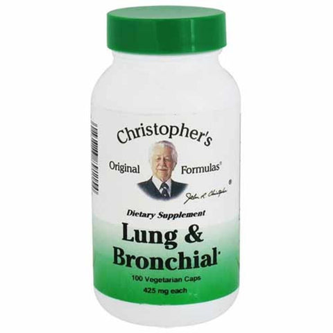 Christopher's Original Formulas Lung & Bronchial Formula 100 Capsules - Biosource Nutrition