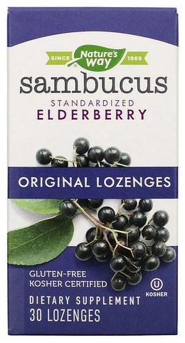 Nature's Way Sambucus Standardized Elderberry Original 30 Lozenges