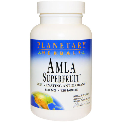 Amla Superfruit 500 mg Planetary Herbals 120 Tablets - Biosource Nutrition