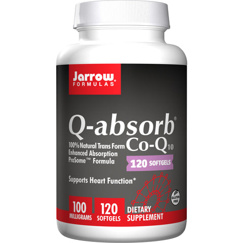 Jarrow Formulas Q-absorb® 100 mg 120 Softgels - Biosource Nutrition