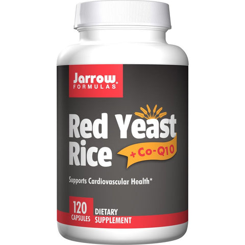 Jarrow Formulas Red Yeast Rice + Co-Q10 120 Capsules - Biosource Nutrition