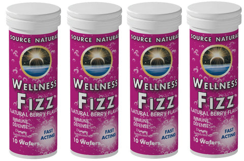 Source Naturals Wellness Fizz Berry 10 Wafers (4 Pack)