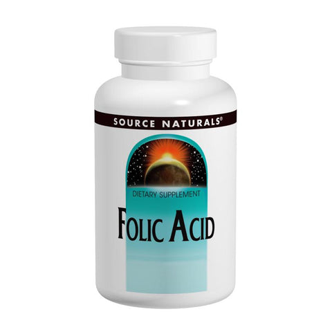 Source Naturals Folic Acid 800 mcg 500 Tablets - Biosource Nutrition