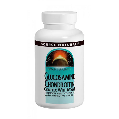 Source Naturals Glucosamine Chondroitin Complex with MSM 60 Tablets - Biosource Nutrition