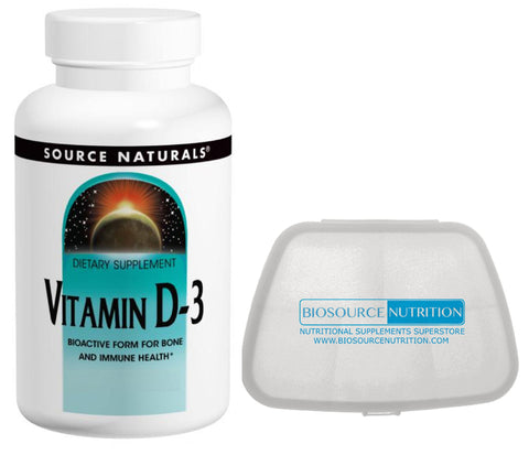Source Naturals Vitamin D3 10,000 IU 60 Softgels - Biosource Nutrition
