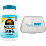 Source Naturals Wellness Formula 120 Capsules and Biosource Nutrition Pocket Pill Pack - Biosource Nutrition