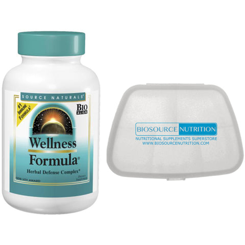 Source Naturals Wellness Formula 60 Capsules and Biosource Nutrition Pocket Pill Pack - Biosource Nutrition