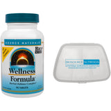 Source Naturals Wellness Formula 90 Tablets and Biosource Nutrition Pocket Pill Pack - Biosource Nutrition