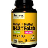 Jarrow Formulas Methyl B-12 & Methyl Folate 100 Lozenges - Biosource Nutrition