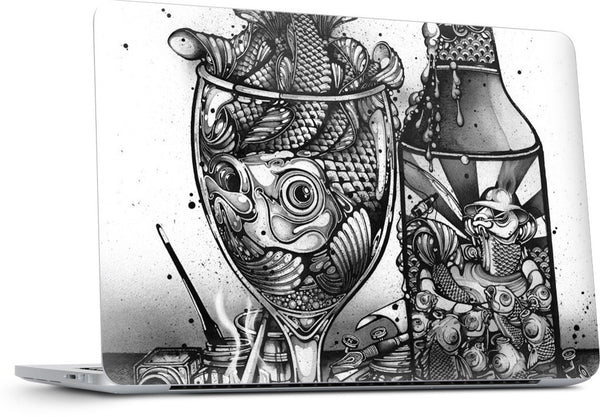 Hook, Line and Inker MacBook Skin
