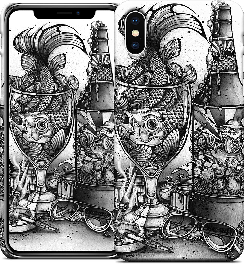 Hook, Line and Inker iPhone Case