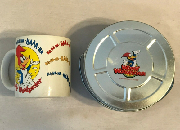 Woody Woodpecker Cup and Tin set - Pre- Owned - Clarissa Maxwell