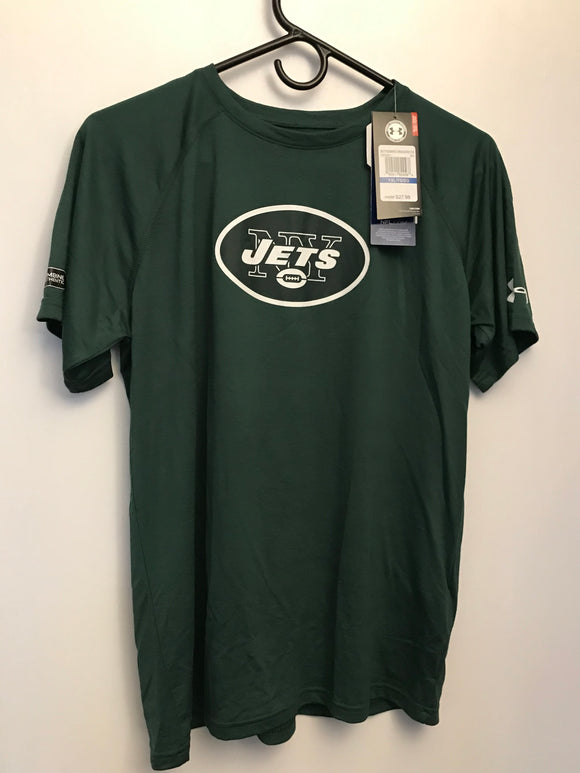 Under Armour NFL New York Jets Combine Short Sleeve Heat Gear YXL - Clarissa Maxwell