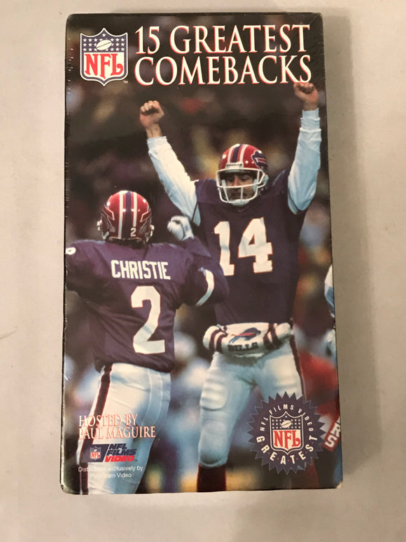 The 15 NFL's Greatest Comebacks Hosted By Paul Maguire VHS 📼 - NEW - Clarissa Maxwell