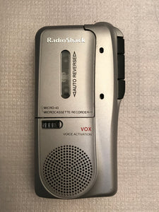 RADIO SHACK MICRO-43 MICROCASSETTE RECORDER VOX VOICE ACTIVATION - Clarissa Maxwell