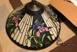 Tiffany Style Lamp Hanging Chandelier Ceiling Plastic - Stained Glass look - Clarissa Maxwell