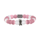 American Cancer Society Beaded Bracelet - Pink - Clarissa Maxwell