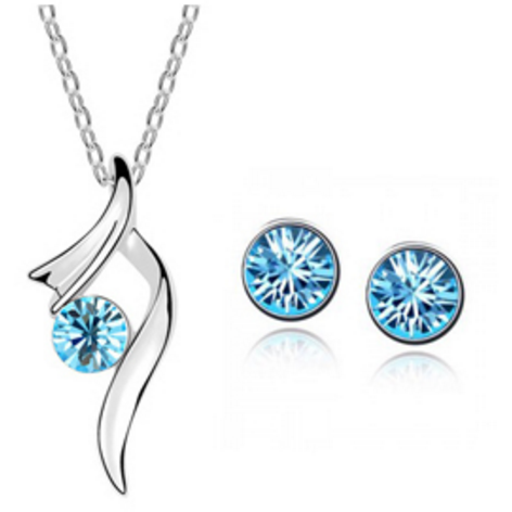 Ballerina Blue Necklace and Earring Set - Clarissa Maxwell