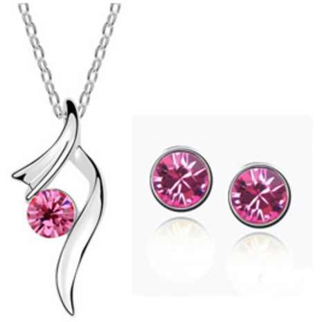 Ballerina Pink Necklace and Earring Set - Clarissa Maxwell