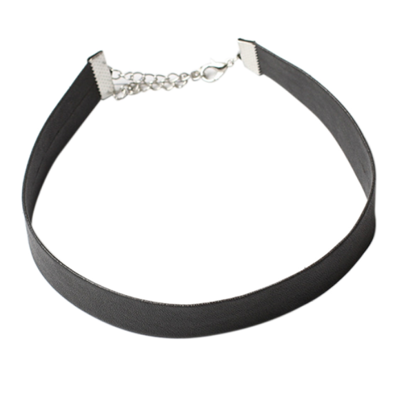 Black Leather Choker - Clarissa Maxwell