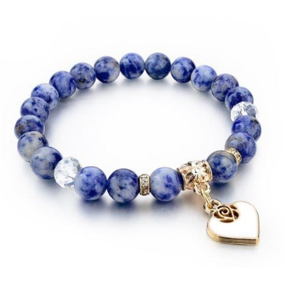 Cloud 9 Heart Bracelet - Blue - Clarissa Maxwell