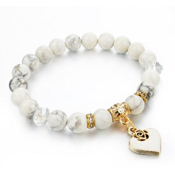 Cloud 9 Heart Bracelet - White - Clarissa Maxwell