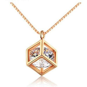 Diamond Cube Necklace - Clarissa Maxwell