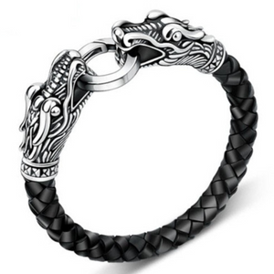 Dragon's leather bracelet -  Black - Clarissa Maxwell