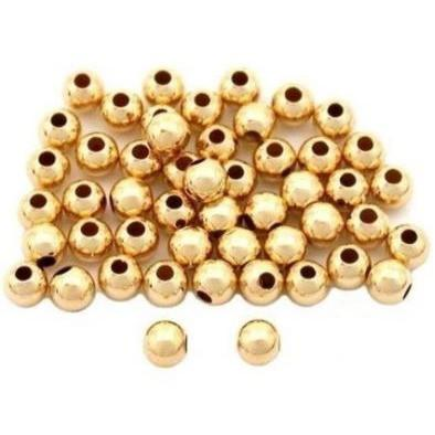 Gold Sphere - 8mm - Spacer - Clarissa Maxwell