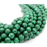 Green Malachite  Custom Bracelet - 8mm - Clarissa Maxwell
