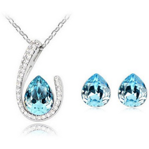 Horseshoe Necklace Earring set - Topaz - Clarissa Maxwell